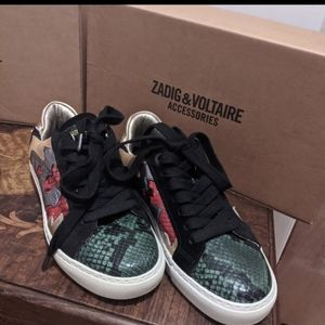 Zadig & Voltaire snake skin womens sneakers